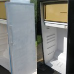 priming / painting fridge