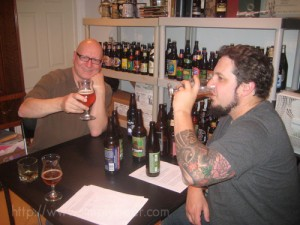 Mark (left) and Peter (right) Tasting