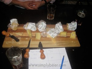 Trying out cheese w/ the beer