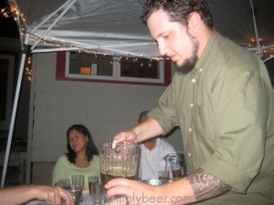 Tasting Pouring Beer