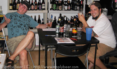 Mark(left) & Peter (Right) finishing off the beers after the recording was done