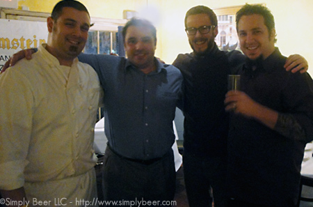 Chef Mike Carrino, Greg Zaccardi, Brian Baxter, Peter Kennedy (Left-Right)