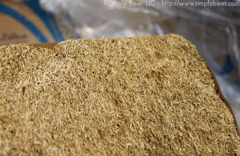 Rice Hulls, used to aid sparge