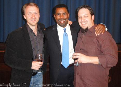 Fred Dexheimer(L), Garrett Oliver(C), Peter Kennedy(R)