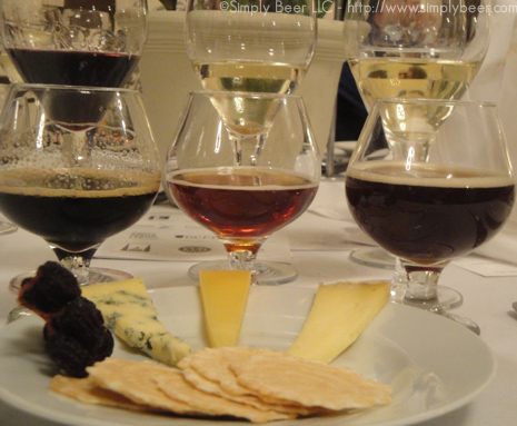 Cheese Course: 3 cheeses, 3 Beers, and 3 Wines.