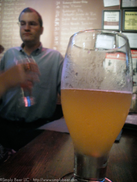 Enjoying A Blonde Ale with it's creator, Rob Tod, Owner of Allagash Brewing company