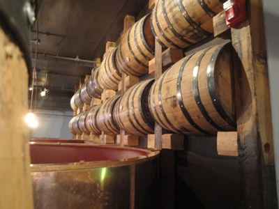 Stranahans Whiskey barrels at The Rackhouse Denver
