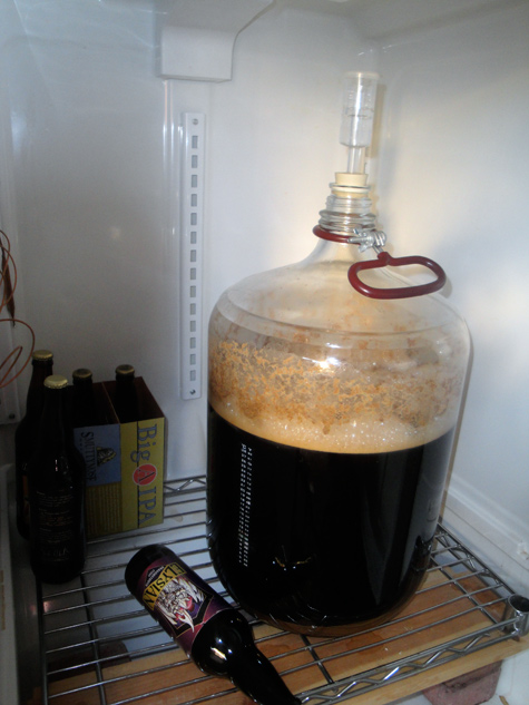 Homebrew Schwarzbier fermentation