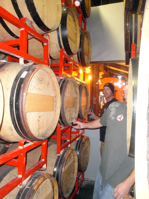 Avery Brewing Co - Andy pours To be Named Wine Barrel Sour