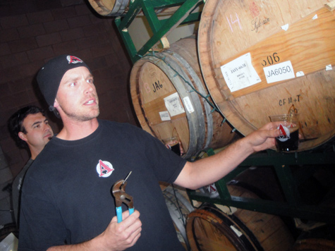 Avery Brewing Co - Andy pours a rare Stout Sour