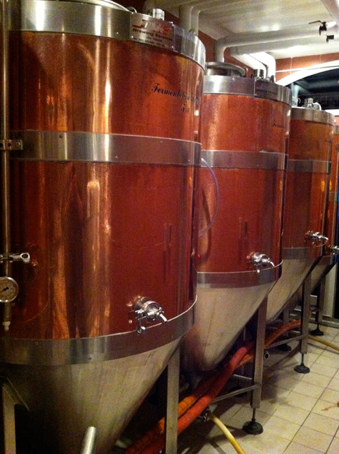 Krogh's 5bbl copper fermentors