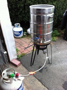 Test fire the Mash Tun Keggle